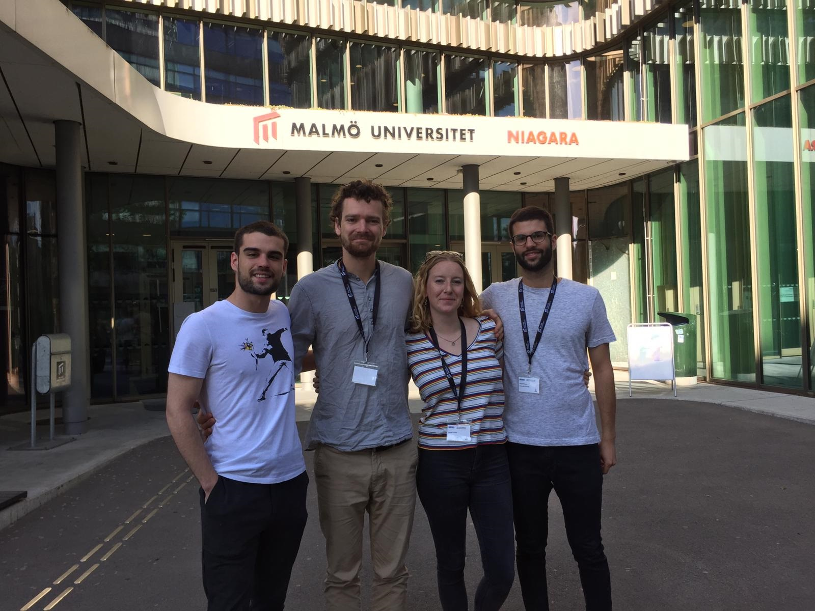 The first EuMIGS cohort: Ruben, Micha, Matilda and Antonio